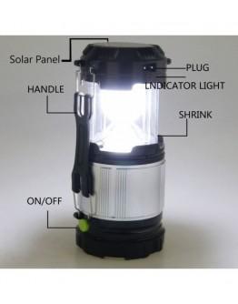 Соларна LED лампа  с фенер и USB изход, Mодел GL-9599