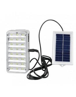 Соларна LED лампа YJ-9817 с дистанционно управление и изнесен соларен панел + авариен режим