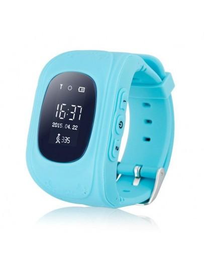 Детски смарт часовник, Smartwatch, Q50, сим карта и GPS, син