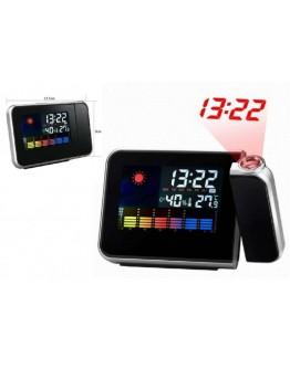 3 в 1 Прожекционен часовник, метеостанция и термометър