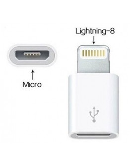 Адаптер - преходник от micro USB към 8 pin Lightning конектор на Apple