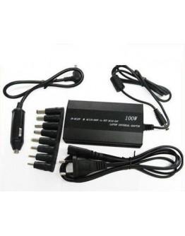 Универсално зарядно за лаптоп на 220V и 12V (изход 12-24V 100W)