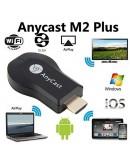 Smart устройство Anycast M2 Plus, за безжично свързване на телефон, лаптоп и таблет с телевизор