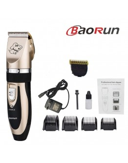 Професионална машинка за подстригване на кучета и котки с керамичен нож и акумулаторна батерия Baorun P2