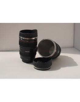Чаша за кафе и капучино във формата на фото обектив Canon.