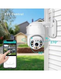 Външна Wifi, IR, Смарт камера Full Hd 1080p с двупосочно аудио, въртяща се и водоустойчива