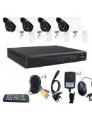 Видеонаблюдение с 4бр. камери FULL AHD CCTV с интернет и 5G преглед от телефон.