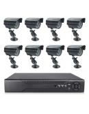 Видеонаблюдение с 8бр. CCTV камери с интернет и 3G преглед от телефон