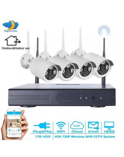 Безжично Видеонаблюдение 5G Kit, 4 камери, 2mpx, IR, WiFi