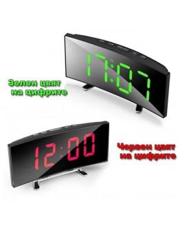 Електронен часовник с огледален дисплей час, дата, температура и аларма DT-6507