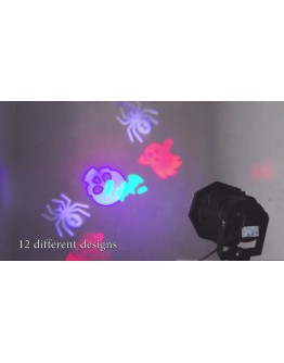 Празничен LED прожектор с 12 цветни слайда - DIY Projection Lamp.