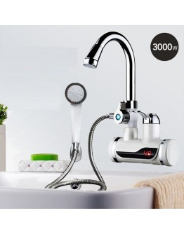 Електрически проточен водонагревател - смесителна батерия и душ слушалка