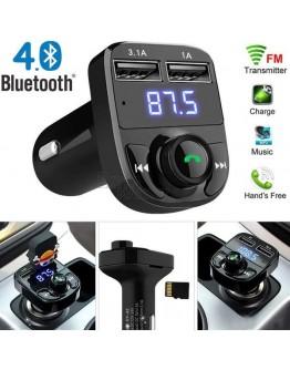 FM Трансмитер X8 - Bluetooth, USB, FM аудио предавател, MP3 плейър, Handsfree...