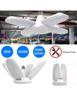 Деформируема LED лампа от пет елемента 80 W, 9000lm, 8500K, стандартна фасонка E27