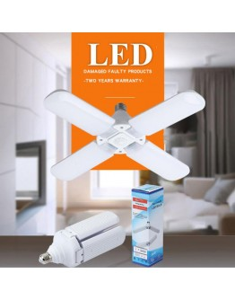 Сгъваема LED лампа с форма на вентилатор 60W, 6500K, стандартна фасонка E27
