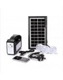 Соларна осветително-зарядна система GDLIGHT с фенер, лампа и 3 LED крушки