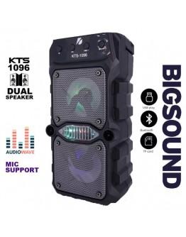 Преносима Bluetooth тонколонка KTS-1096, 2x5W с FM радио и МP3