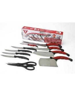 Комплект от 10 ножа и магнитна стойка
