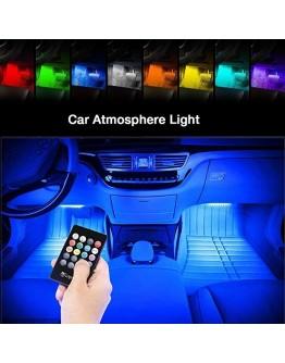LED RGB светодиодни ленти и дистанционно за интериорно осветление в автомобила.