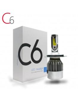 LED C6 Диодни Автомобилни Крушки H1, H7, H4 с COB система и охлаждане