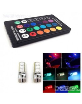 LED габаритни крушки T10 с дистанционно