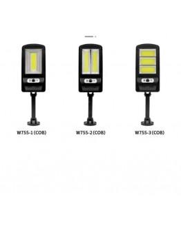 Соларна LED стенна лампа с PIR сензор / CDS нощен сензор с дистанционно управление W755 SMD