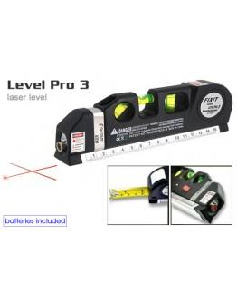 Лазерен нивелир - Laser Level Pro 3 с ролетка 250 см