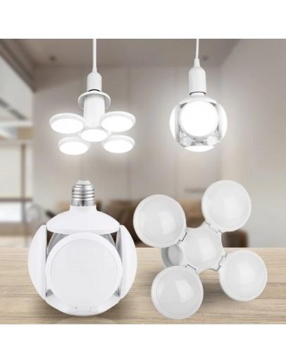 Сгъваема LED лампа с форма на футболна топка 40W, 7200K, стандартна фасонка E27