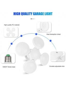 Сгъваема LED лампа с форма на футболна топка 60W, 6500K, стандартна фасонка E27