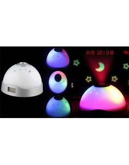 Магически часовник-лампа с аларма проектиращ звезди и час