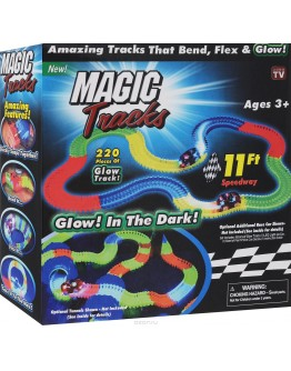 Състезателна писта светеща в тъмното Magic Tracks 220 елемента