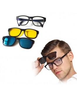 Очила с магнитни бързо сменяеми лещи 3 в 1, Magic Vision