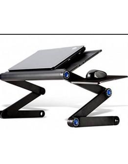 Метална маса за лаптоп Т9 - регулируема с мощен охладител и стойка за мишка.