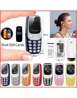 Мини мобилен телефон Bm10, 2 сим карти, bluetooth свързване