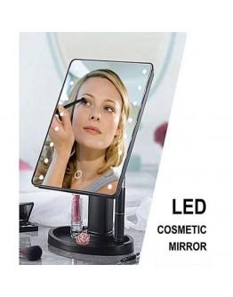 Огледало за грим с LED светлини, правоъгълна форма