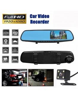 Видеорегистратор огледало Vehicle Blackbox 1044, DVR Full HD 1080P с камера за задно виждане