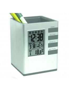 Моливник с часовник, термометър и календар