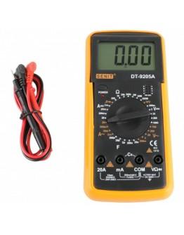 Цифров мултиметър, мултицет DT-9205A за измерване на ток, напрежение, съпротивление, капацитет, диоди и транзистори