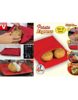 Варени картофи за 4 минути в микровълнова фурна