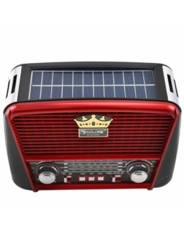 Соларно ретро радио Golon RX-BT455S с Bluetooth, МР3 и фенер