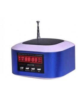Мини висоговорител с вградено радио и МР3 плейър WS-3188