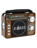 Акумулаторно радио Waxiba XB-1061 URT, MP3, USB, SD карта, AM/FM/SW