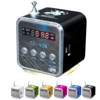 Мини висоговорител с вградено радио и МР3 плейър –  TD-V26