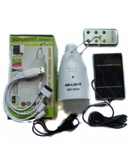 Соларна LED RGB лампа GD-5024 и Power Bank батерия
