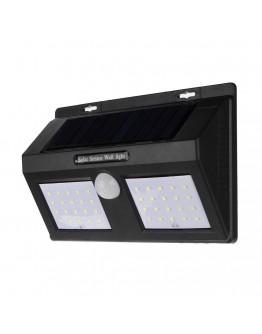Соларна LED лампа със сензор за движение, 40 LED диода