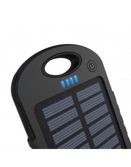 Соларна POWER BANK батерия 30000 mAh с мощна лед лампа
