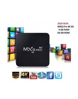 Смарт Android TV Box MXQ Pro 5G 4К, Android 10.1, Dual WiFi, 4GB RAM, 32GB ROM