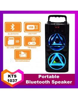 Преносима Bluetooth тонколонка KTS-1037E 2x5W с FM радио и МP3