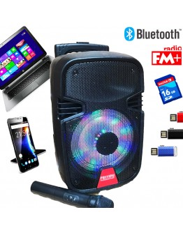 Преносима Bluetooth караоке тонколона FEIYIPU ES-82 с FM радио, MP3 и безжичен микрофон