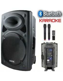 Мощна караоке тонколона JMK F-12 с акумулатор, Bluetooth, FM, МР3 и 2 бр. безжични микрофона